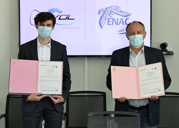 Signature convention de mécénat ENVOL - Fonds de dotation ENAC